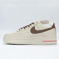 Nike Air Force 1 07 奶白咖啡色 休閒運動板鞋 情侶鞋 808788-996
