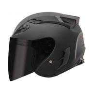 SBK SUPER-RR 半罩 3/4罩 安全帽 內襯可拆  雙D扣 消光黑 黑