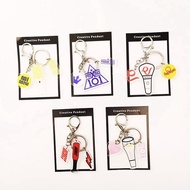 KPOP Keychain NCT IZONE Red Velvet IKON Lightstick Shape Acrylic Keyring  X ONE Bag Pendant Charm