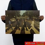 บีทเทิลส์บีทเทิลส์ข้ามถนน Aibi Road Music star rock โปสเตอร์ห้องนอนหอพักภาพวาดตกแต่ง