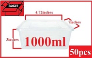 microwaveable container / plastic container / 1000ml microwaveable tubs x 50pcs