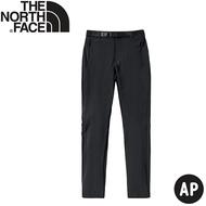 【The North Face 女 軟殼長褲《瀝灰》】4ND2/防潑水/戶外長褲/休閒長褲/登山褲