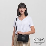 【KIPLING】未來質感黑單肩隨身斜背包-RIRI