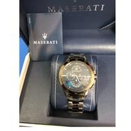 「全新,現貨」【MASERATI】瑪莎拉蒂 INGEGNO系列 R8873619001 三眼計時腕錶 45mm