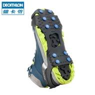 迪卡儂冰爪戶外登山防滑鞋套釣魚雪地冰面防滑冰爪QUSH