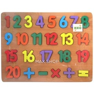 Wooden Number Puzzle - Jigsaw Puzzle - Wooden Kids Toys - Wooden Toy