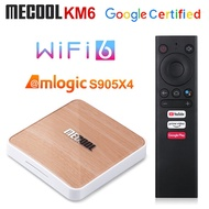 2021 Mecool KM6 Deluxe Wifi 6 Amlogic S905X4 4GB 64GB Androidtv 10.0  AV1 BT5.0 1000M Set Top Box