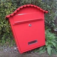 信箱郵筒 鐵藝歐式別墅信箱室外報箱創意郵筒防水郵箱印字心理壁掛多地