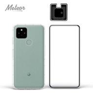 【Meteor】Google Pixel 5 手機保護超值3件組(透明空壓殼+鋼化膜+鏡頭貼)