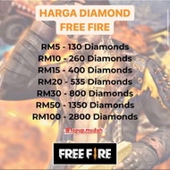 Ready Stock Topup Diamond Free Fire Murah !