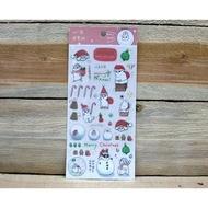 絕版商品 最後促銷 ㄇㄚˊ幾過聖誕透明貼紙 < 聖誕老公公篇/雪人篇>