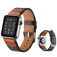 Genuine Leather strap for Apple watch band 44mm 40mm for i watch band 42mm 38mm Stone pattern bracelet wristbands for apple watch series 3 4 5 SE 6