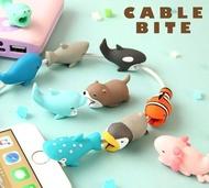 咬咬小動物 iPhone傳輸線/充電線 防斷保護套 Hamee Cable Bite 海洋系列 該該貝比日本精品 ☆