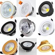 【Ready Stock】led downlight Recessed Downlight● LED Spotlight tertanam siling ruang tamu siling Siling pukulan kecil 3W5W7W12W Pembukaan 6 6.5 7.5cm Downlight