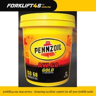 """PENNZOIL HYDRAULIC OIL """"AW68 GOLD"""" (18 LITERS)"""