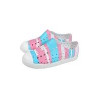 native JEFFERSON PRINT 懶人鞋 洞洞鞋 藍/粉紅 條紋 童鞋 小童 15100101-8870 no942