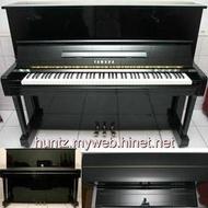 【田新中古鋼琴】山葉YAMAHA黑色U1直立式一號琴(4萬9直購)含調音及保固,另回收購P-155數位鋼琴二手P-140