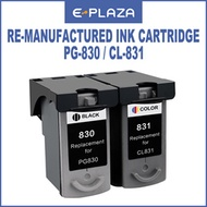 [ePlaza]Re-manufactured Ink Cartridge Compatible Canon PG-830 830 Black / CL-831 831 Color