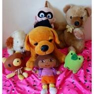娃娃大出清✨ 熊熊娃娃 青蛙娃娃 Dora 拉不拉多狗狗 雪白狗狗 超人特攻隊