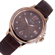 Orient Ladies Elegance Leather Date Automatic Watch AC07001T