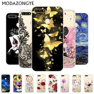 Huawei Y6 Prime 2018 Case Painting Transparent TPU Back Cover Soft Phone Case Huawei Y6Prime 2018 Casing