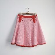南瓜Vintage。DOLLY GIRL by ANNA SUI 粉色 綁結 短裙