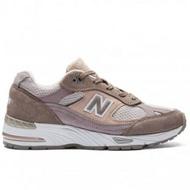 New Balance 991 女鞋 休閒 英國製 麂皮 網布 灰 粉紅【運動世界】W991LGS