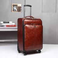 กระเป๋าเดินทางหนัง PU สำหรับผู้ชาย,กระเป๋าสปินเนอร์มีล้อลากรหัสกระเป๋าเดินทางขนาด16/18นิ้ว