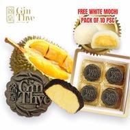 Free Mochi + Delivery [Gin Thye] SnowSkin Premium Bamboo Charcoal Red Prawn Durian Mooncake 4pcs/box Snow Skin