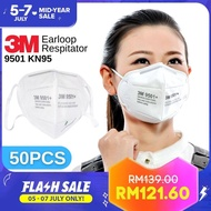 50PCS 3M 9501 KN95 Particulate Disposable Respirator Breathing Face Mask Protection Pelindung Topeng Muka