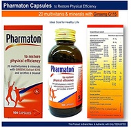 [USA]_Pharmaton 20 Multivitamins Minerals with Ginseng G115 Lecithin and Deanol Capsules Active Rest