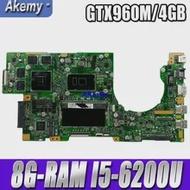 Laptop GTX960M/GTX950M Mainboard Akemy DDR4 Asus New for K501UW K501uq/K501uxm/Mainboard/Ddr4