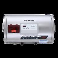 【品僑企業行】櫻花EH1250LS6 12加侖電子式定時定溫電熱水器(白鐵內膽)-橫掛式