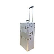 雙開手拉鋁箱 二層 專業化妝箱 行李箱式街頭藝人 電動工具收納箱 可托式萬用箱 移動式工作箱 大空間