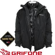 【GRIFONE 西班牙 GORE-TEX PERFORMANCE男款GORE-TEX 兩件式羽絨外套 黑】A5C008D/羽絨外套/防水