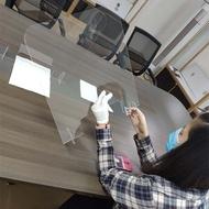 亞克力防飛沫隔離擋板辦公會議透明防疫隔板學生食堂十字隔板定制