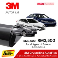 3M Crystalline Solar Protection AutoFilm Package -Standard Saloon (Deposit Only)