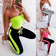 Happybuyner ผู้หญิงเอวสูงโยคะกีฬา Leggings วิ่งออกกำลังกายยืดกีฬากางเกงขายาวใหม่ Leggings วิ่งออกกำลังกายการออกกำลังกายกางเกงกีฬา