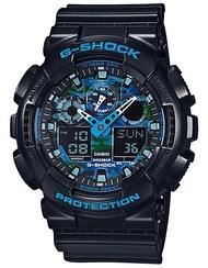 G-Shock GA-100CB Ana-Digi Black Blue Camo