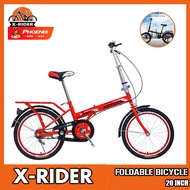 ✨Spot Express✨ Phoenix Folding Bicycle Adult Male And Female Cycling Super Light 20 Inch City Bike Single Speed Small Wheel Cross Foldable Bike Country Adult Portable Bicycle