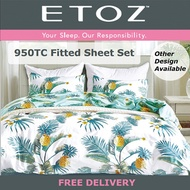 ETOZ NEW DESIGNS! 950 TC Fitted Sheet Set★★Printed Bedsheet