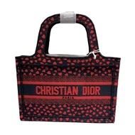 Dior I Love Paris 紅心圖案 迷你 Book Tote 帆布包