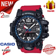 Original G Shock MUDMASTER Men Sport Watch GWG1000 Dual Time Display 200M Water Resistant Shockproof and Waterproof World Time LED Auto Light Sports Wrist Watches with 2 Years Warranty GWG-1000RD-4 (Ready Stock)