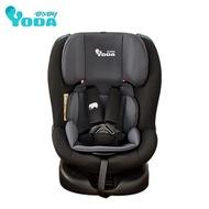 【YODA】ISOFIX (0-12歲) 360度旋轉汽車安全座椅(時尚黑)