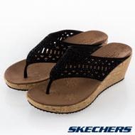 SKECHERS 女 休閒系列 涼拖鞋 BEVERLEE - 31715BLK