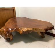 台灣原木樹頭雞油木桌