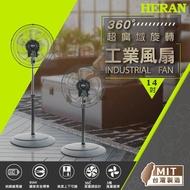 【HERAN 禾聯】14吋360度超廣域 旋轉工業風扇 (HAF-14SH51C)