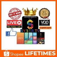(Dealers Price PM) SYBER TV & SyberTV (MYTV4K) IPTV + Live programmes/movie/drama.