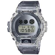 【CASIO 卡西歐】G-SHOCK 復古透明電子運動錶-漸變灰(DW-6900SK-1)