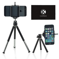 CamKix Tripod Kit - Universal Adjustable Including Tripod/Universal Phone Holder/Velvet Phone Bag/Mi